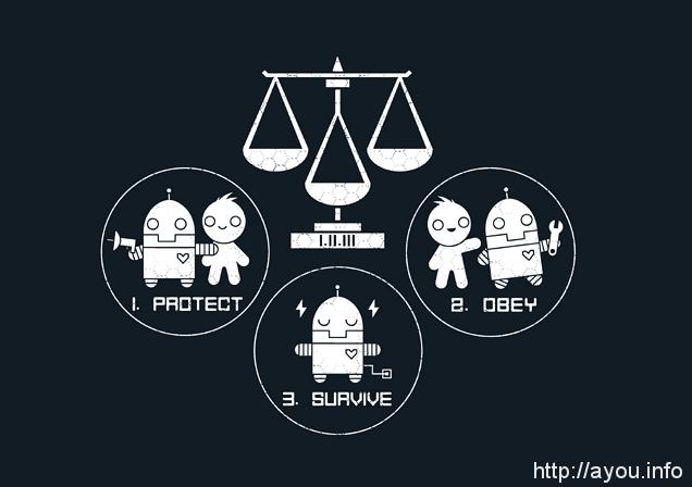 【机器人三定律的概括版。图片来源:infinitywave】